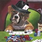 Poker Dogs 2 by Jenny Newland art print