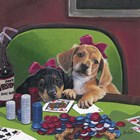 Poker Dogs 3 by Jenny Newland art print