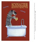 Schnauzer Bath Salts by Ken Bailey art print