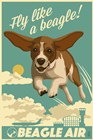 Fly Like a Beagle by Lantern Press art print