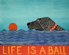 Life is a Ball Black by Stephen Huneck art print