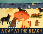 A Day At The Beach by Stephen Huneck art print