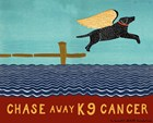 Chase Away K9 Cancer by Stephen Huneck art print