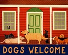 Dogs Welcome HSH II by Stephen Huneck art print