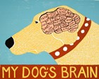 My Dogs Brain Yellow by Stephen Huneck art print