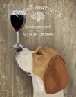 Dog Au Vin Beagle by Fab Funky art print