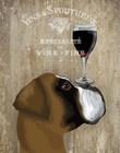 Dog Au Vin Boxer by Fab Funky art print