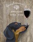 Dog Au Vin Dachshund by Fab Funky art print