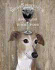 Dog Au Vin Greyhound by Fab Funky art print