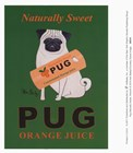 Pug Naturally Sweet art print
