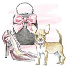 Glamour Pups I by Beth Grove art print
