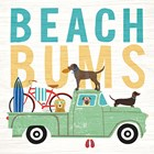 Beach Bums Truck I Square by Michael Mullan art print