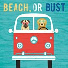 Beach Bums Bus by Michael Mullan art print