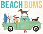Beach Bums Truck I by Michael Mullan art print