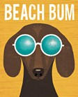 Beach Bums Dachshund I Bum by Michael Mullan art print