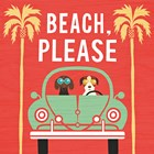Beach Bums Beetle I Square by Michael Mullan art print