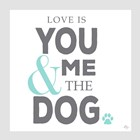 You Me and the Dog by Kimberly Glover art print