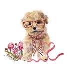Valentine Puppy II by Melissa Wang art print