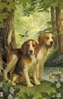 Beagles And Duck by Dan Craig art print