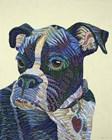 Boxer Portrait by Erika Pochybova art print