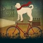White Doodle on Bike Summer by Ryan Fowler art print