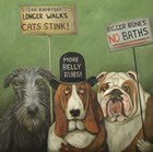 Dogs On Strike by Leah Saulnier art print