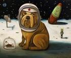 Space Crash by Leah Saulnier art print