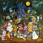 Howl-O-Ween Dogs 2 by Bill Bell art print