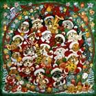 Santa Paws Christmas by Bill Bell art print