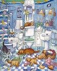 Bathroom Pups by Bill Bell art print