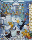 More Bathroom Pups by Bill Bell art print