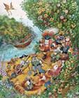 Black Dog's Treasure Island by Bill Bell art print
