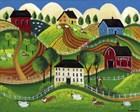 Corgi Country by Cheryl Bartley art print