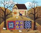 Mama's Corgi Quilt Farm by Cheryl Bartley art print