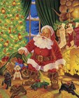 Santa Pups by Christopher Nick art print