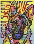 German Shepherd Love by Dean Russo art print