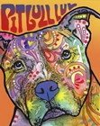 Pit Bull Luv by Dean Russo art print