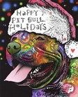 Christmas Pitbull by Dean Russo art print
