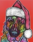 Christmas Dog by Dean Russo art print
