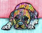 Lying Boxer by Dean Russo art print