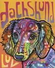 Dachshund Luv by Dean Russo art print