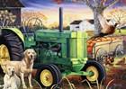 John Deer Pups by Jenny Newland art print