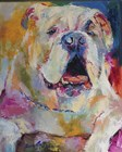 Bulldog by Richard Wallich art print