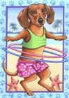 Dachshund Hula Hoop by Tomoyo Pitcher art print