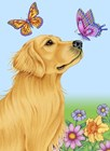 Butterfly And Dog by Tomoyo Pitcher art print