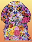 Flowers Shih Tzu by Tomoyo Pitcher art print