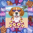 Seashells Beagle by Tomoyo Pitcher art print