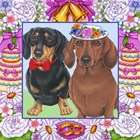 Wedding Dachsunds by Tomoyo Pitcher art print
