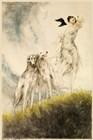Deco Dogs by Vintage Lavoie art print