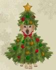 Yellow Labrador, Christmas Tree Costume by Fab Funky art print